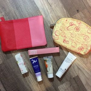Other - Makeup bags + lip glosses + facial routine